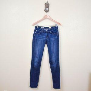 "AG Jeans ""The Stevie"" Dark Wash Straight Leg Jeans"
